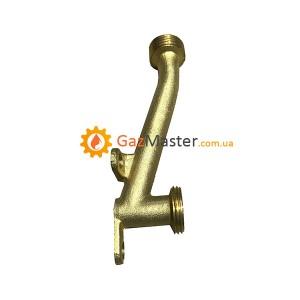"""Фото - Трубка подачи воды для китайской газовой колонки """"кривая"""","""